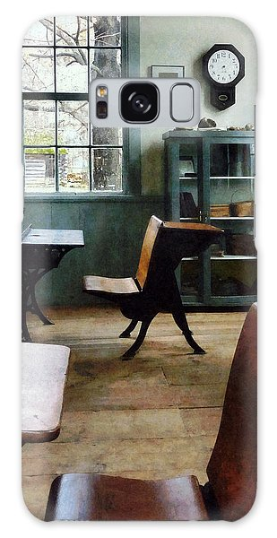 Teacher - One Room Schoolhouse With Clock Galaxy Case
