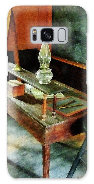 Teacher's Desk With Hurricane Lamp Galaxy Case