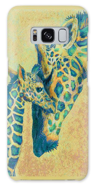Teal Giraffes Galaxy Case by Jane Schnetlage