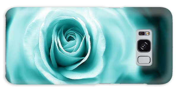 Teal Rose Flower Abstract Galaxy Case