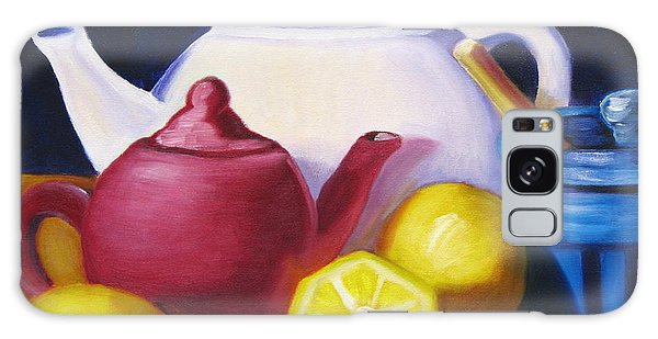 Teapots In Primary Colors Galaxy Case