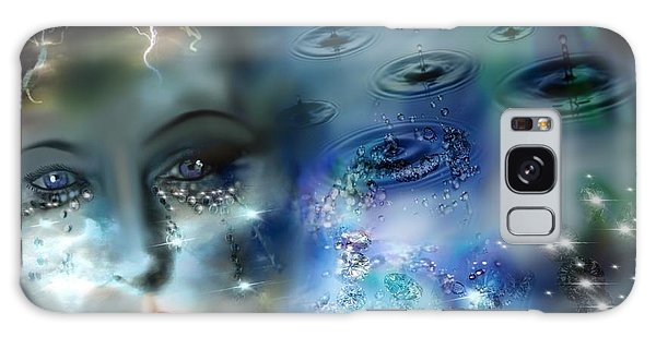 Tears As Diamonds Galaxy Case by Diana Riukas