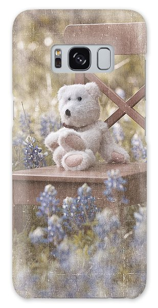 Teddy Bear And Texas Bluebonnets Galaxy Case