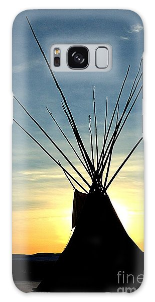 Teepee Along The Little Big Horn River Galaxy Case