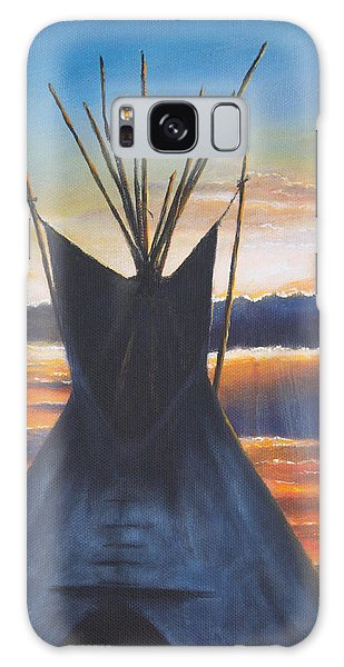 Teepee At Sunset Part 1 Galaxy Case