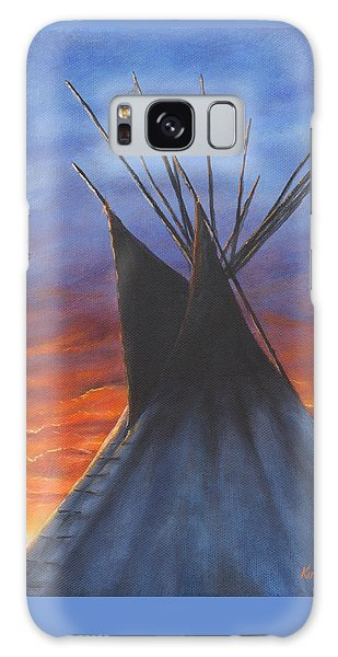Teepee At Sunset Part 2 Galaxy Case