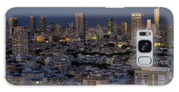 Galaxy Case featuring the photograph Tel Aviv At The Twilight Magic Hour by Ron Shoshani