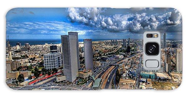 Tel Aviv Center Skyline Galaxy Case