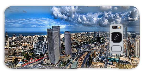 Tel Aviv Center Skyline Galaxy Case by Ron Shoshani