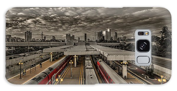 Tel Aviv Central Railway Station Galaxy Case by Ron Shoshani