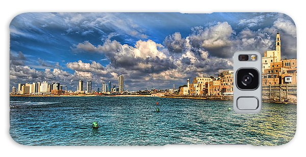 Tel Aviv Jaffa Shoreline Galaxy Case by Ron Shoshani