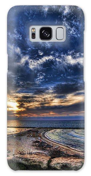 Tel Aviv Sunset At Hilton Beach Galaxy Case