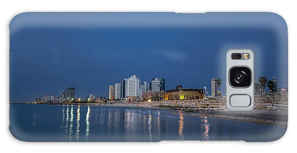Tel Aviv The Blue Hour Galaxy Case by Ron Shoshani