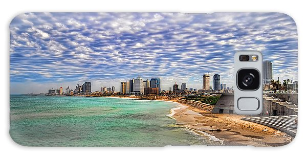 Tel Aviv Turquoise Sea At Springtime Galaxy Case by Ron Shoshani