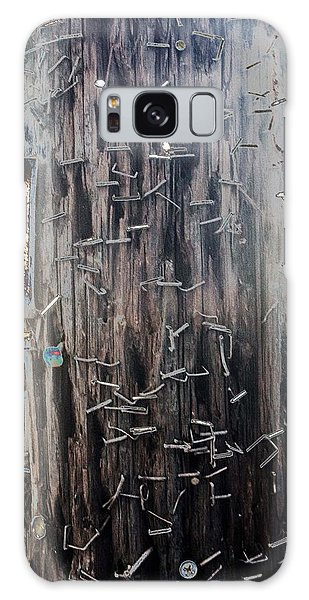 Telephone Pole With Scars From The Past Galaxy Case