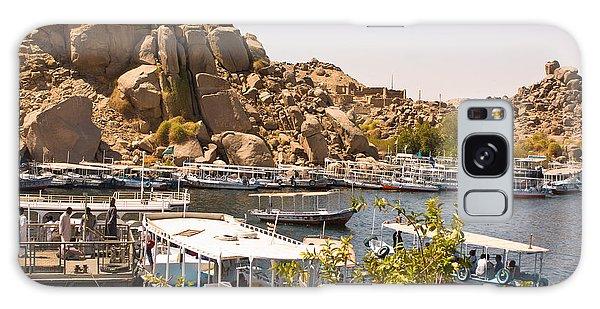 Temple Boat Dock Galaxy Case