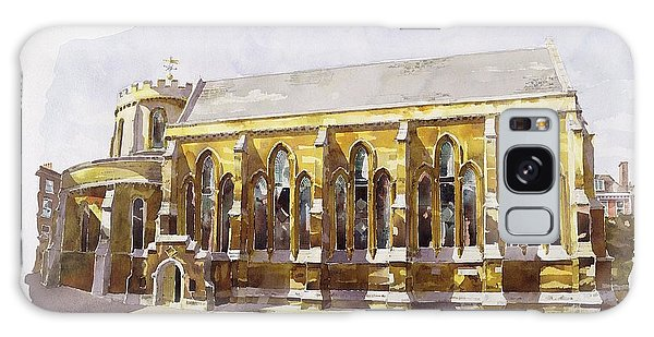 Place Of Worship Galaxy Case - Temple Church by Annabel Wilson