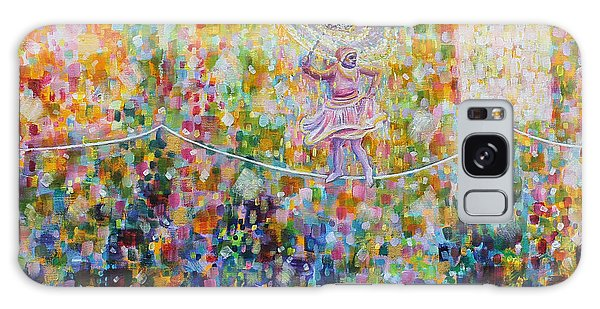 Temple Dance-tightrope  Galaxy Case