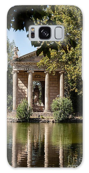 Temple Of Aesculapius And Lake In The Villa Borghese Gardens In  Galaxy Case