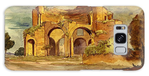 Temple Galaxy Case - Temple Of Minerva Rome by Juan  Bosco