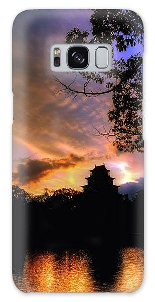 A Temple Sunset Japan Galaxy Case by John Swartz