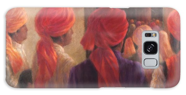 Turban Galaxy Case - Temple Steps, 2012 Acrylic On Canvas by Lincoln Seligman