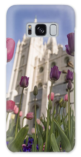 Tulips Galaxy Case - Temple Tulips by Chad Dutson