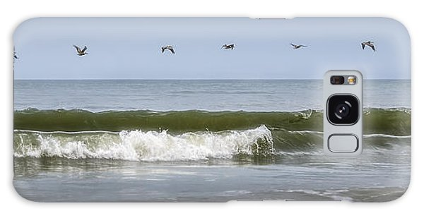 Galaxy Case featuring the photograph Ten Pelicans by Steven Sparks