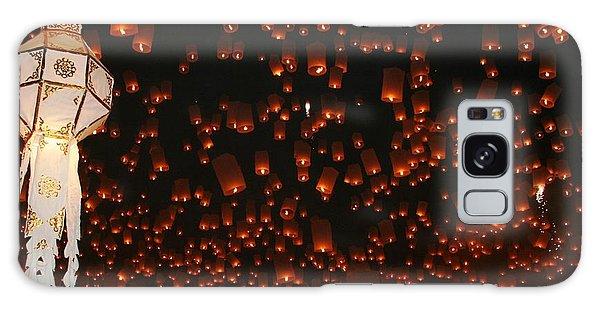 Ten Thousand Lantern Launch Galaxy Case by Nola Lee Kelsey