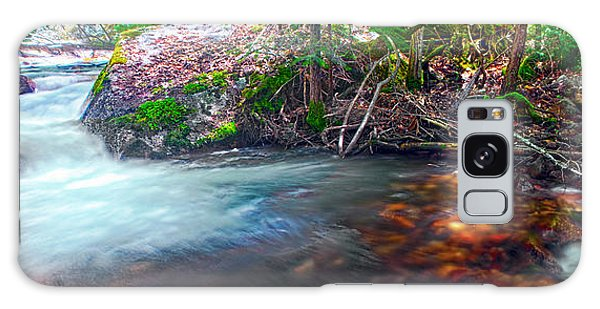 Tenaya Creek Light And Shadow Panorama Galaxy Case