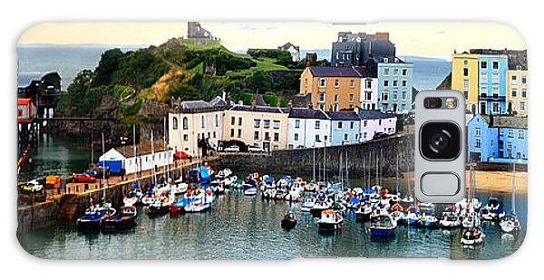 Tenby Harbour Panorama Galaxy Case