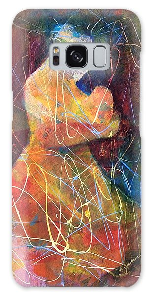 Tender Moment Galaxy Case by Marilyn Jacobson