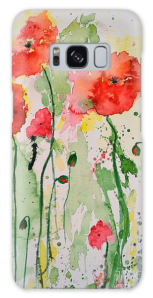 Tender Poppies - Flower Galaxy Case by Ismeta Gruenwald
