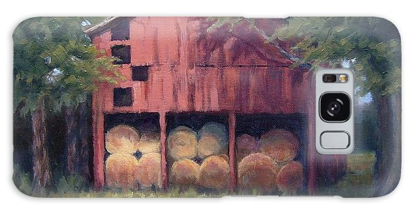 Tennessee Barn With Hay Bales Galaxy Case