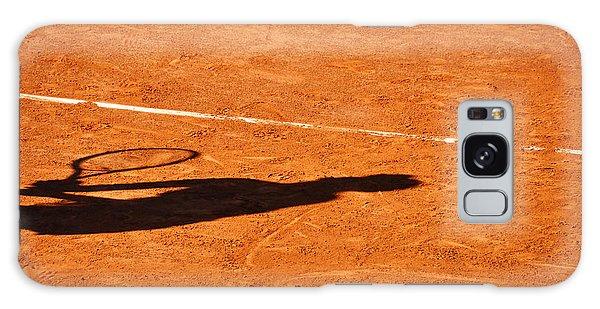 Tennis Player Shadow On A Clay Tennis Court Galaxy Case