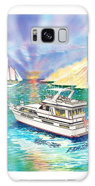 Motor Yacht Galaxy Case - Terifico At Anchor by Jack Pumphrey