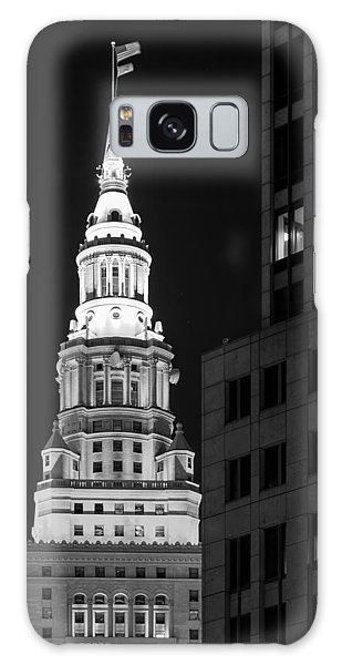 Terminal Tower In Black And White  Galaxy Case