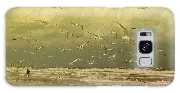 Terns In The Clouds Galaxy Case by Deborah Benoit