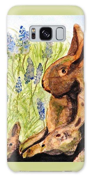 Terra Cotta Bunny Family Galaxy Case by Angela Davies