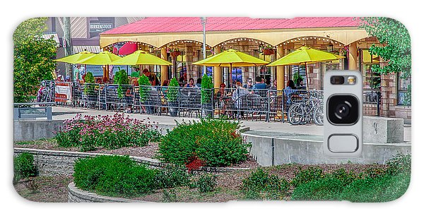 Terrace Dining On The Monon Trail Galaxy Case