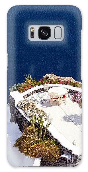 Terrace Garden On The Cliff Galaxy Case by Aiolos Greek Collections