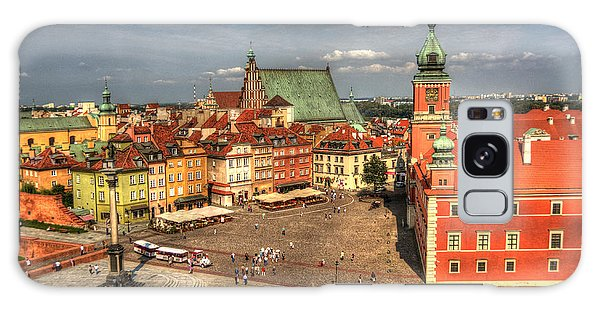 Terrific Warsaw - The Castle And Old Town View Galaxy Case by Julis Simo