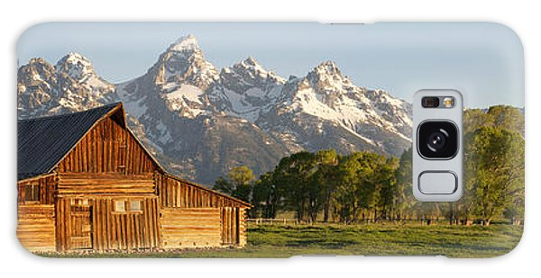 Galaxy Case featuring the photograph Teton Barn With Bison by Aaron Spong