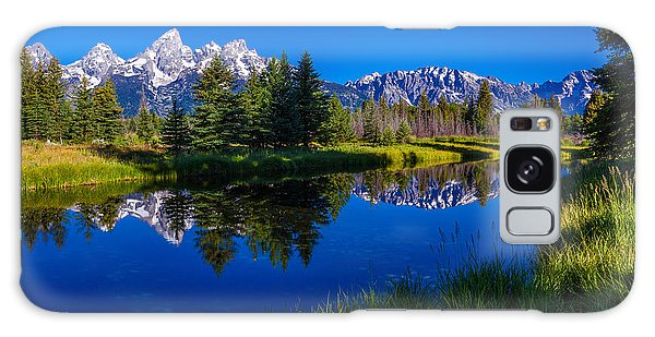 Scenery Galaxy Case - Teton Reflection by Chad Dutson