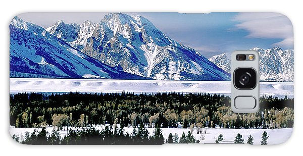 Teton Valley Winter Grand Teton National Park Galaxy Case