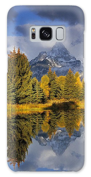 Tetons And Pond Galaxy Case
