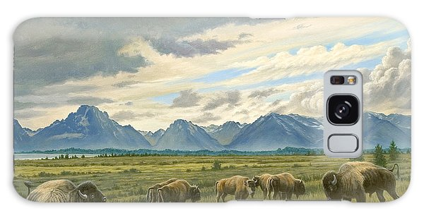 Tetons-buffalo  Galaxy Case