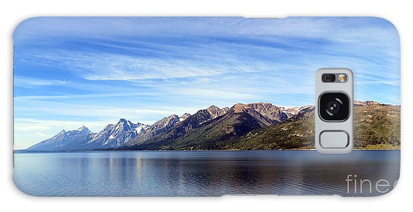 Tetons By The Lake Galaxy Case by Ausra Huntington nee Paulauskaite