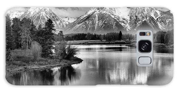 Tetons In Black And White Galaxy Case