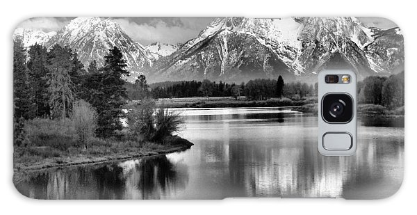 Teton Galaxy Case - Tetons In Black And White by Dan Sproul